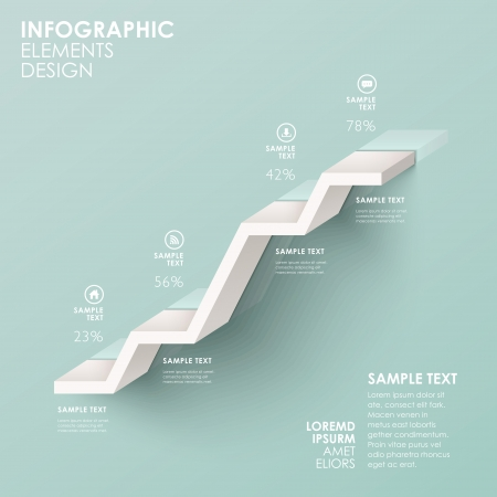 Photo pour modern abstract stair flow chart infographic elements - image libre de droit