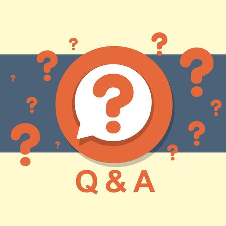 Illustration pour flat design concept of Q&A question and answer - image libre de droit