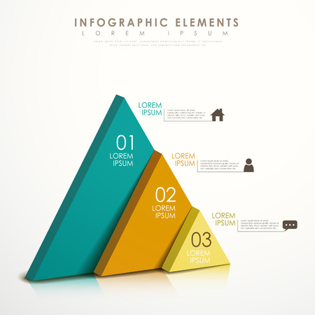 Photo pour modern vector abstract colorful triangle infographic elements - image libre de droit