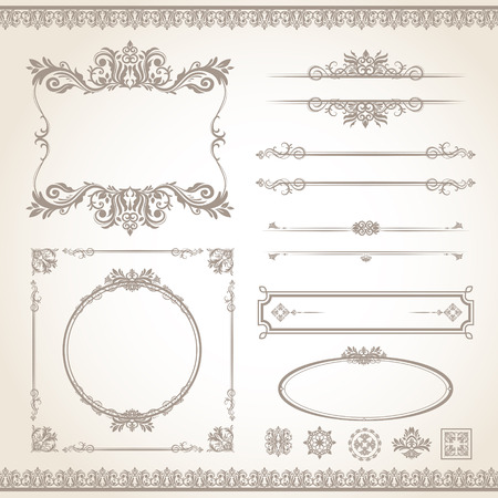 Photo for classic old style vector vintage frame set - Royalty Free Image