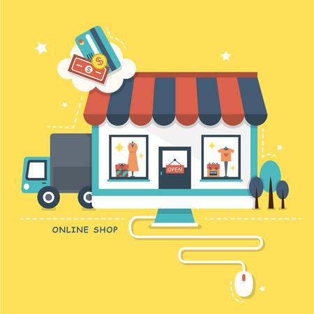 Ilustración de illustration concept of online shop - Imagen libre de derechos