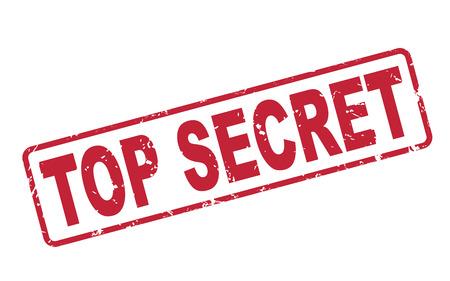 Ilustración de stamp top secret with red text over white background - Imagen libre de derechos