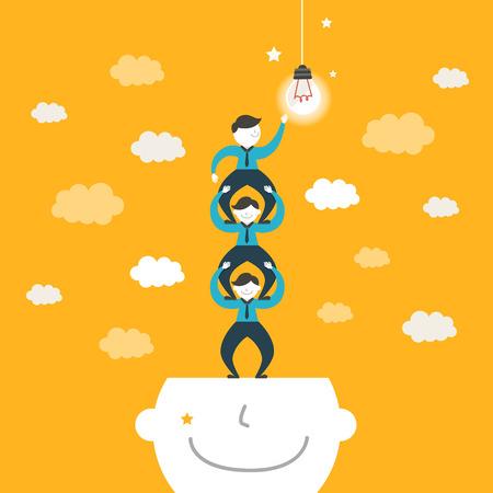 Illustration pour flat design vector illustration concept of team work - image libre de droit