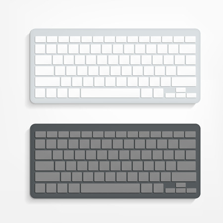 Ilustración de vector blank computer keyboard on white background - Imagen libre de derechos
