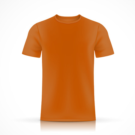 Illustration pour orange T-shirt template isolated on white background - image libre de droit