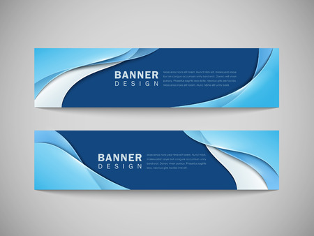 Illustration pour abstract smooth curve lines background advertising banner  - image libre de droit