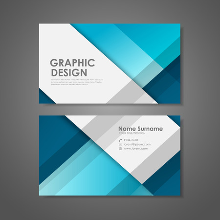 Ilustración de abstract creative business card template in blue  - Imagen libre de derechos
