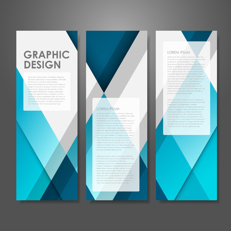Illustration pour abstract creative advertising banner template in blue  - image libre de droit