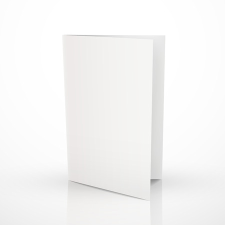 Ilustración de blank folder brochure design isolated on white - Imagen libre de derechos