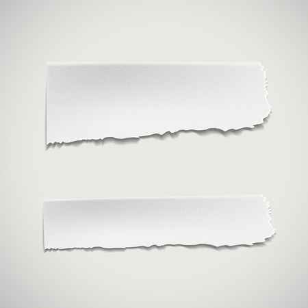 Illustration for white ripped paper isolated on white background - Royalty Free Image