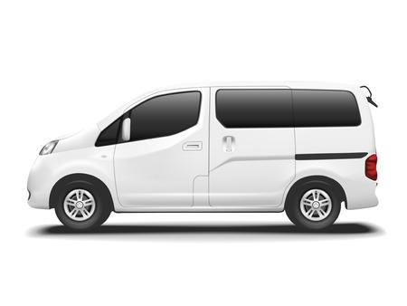 Illustration pour white commercial van isolated on white background - image libre de droit