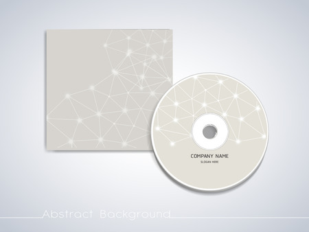Illustration for soft geometric background design for CD cover template - Royalty Free Image