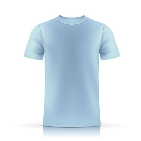 Illustration pour light blue T-shirt template isolated on white background - image libre de droit