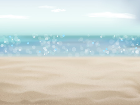 Illustration pour beautiful sand of beach scene background with great weather - image libre de droit