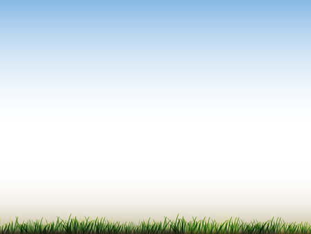 Illustration pour blue sky and field of green grass background - image libre de droit