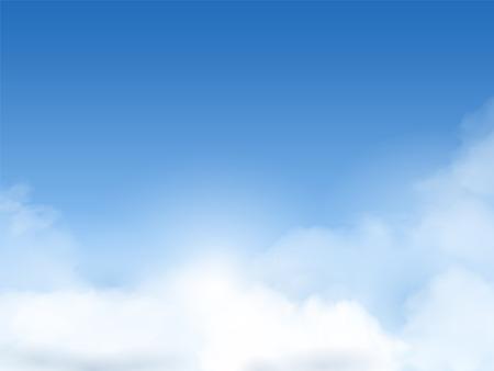 Ilustración de blue sky with clouds background in great weather - Imagen libre de derechos