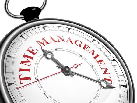 Illustration pour time management concept clock isolated on white background - image libre de droit
