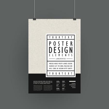 Ilustración de modern poster template design in simplicity style - Imagen libre de derechos