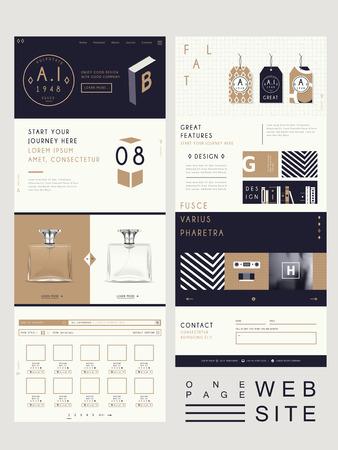 Illustration pour elegant style one page website design template - image libre de droit