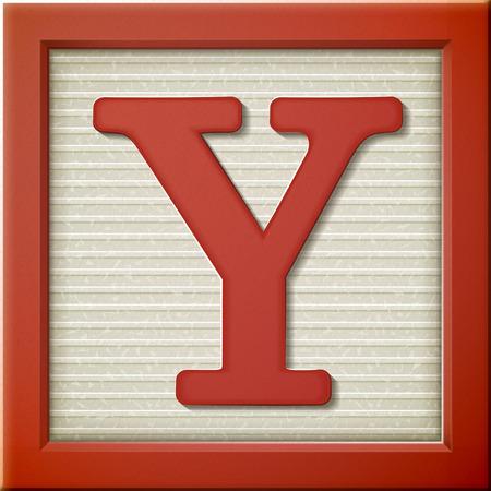 Ilustración de close up look at 3d red letter block Y - Imagen libre de derechos