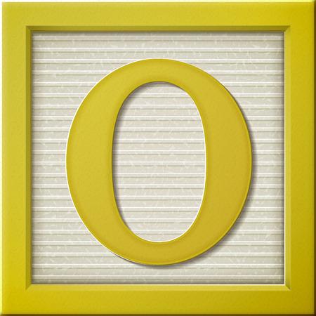 Ilustración de close up look at 3d yellow letter block O - Imagen libre de derechos