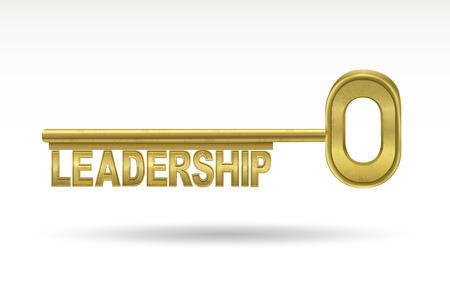 Ilustración de leadership - golden key isolated on white background - Imagen libre de derechos