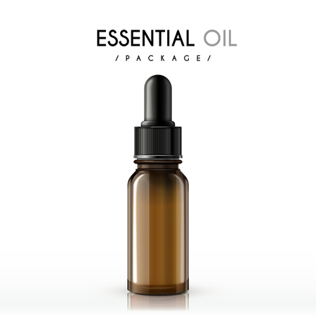Ilustración de essential oil package isolated on white background - Imagen libre de derechos