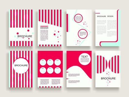 Illustration pour modern brochure template design set with geometric elements - image libre de droit