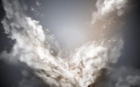Illustration pour cloudy sky element, gray background with celestial feelings, 3d illustration - image libre de droit