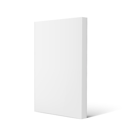 Illustration pour Blank right tilt standing thick book 3d illustration, can be used as design element, isolated white background, side view - image libre de droit