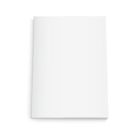 Ilustración de Blank book 3d illustration, can be used as design element, isolated white background, top view - Imagen libre de derechos