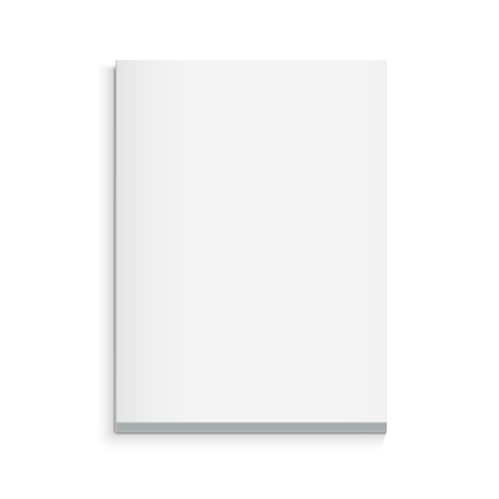 Ilustración de Blank thick book 3d illustration, can be used as design element, isolated white background, top view - Imagen libre de derechos