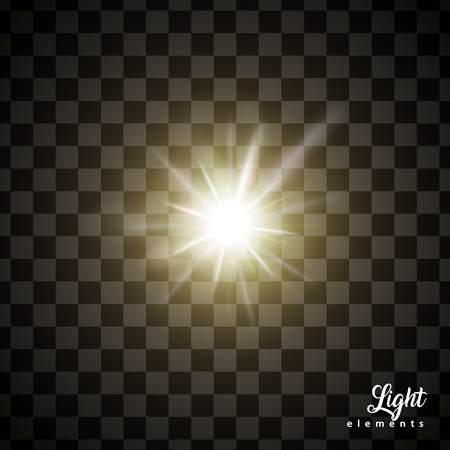 Ilustración de Glowing light effects, special effects isolated on transparent background for design uses - Imagen libre de derechos