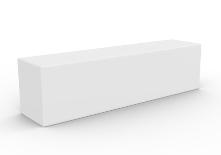Photo for Paper box mockup, blank gift box in 3d render - Royalty Free Image