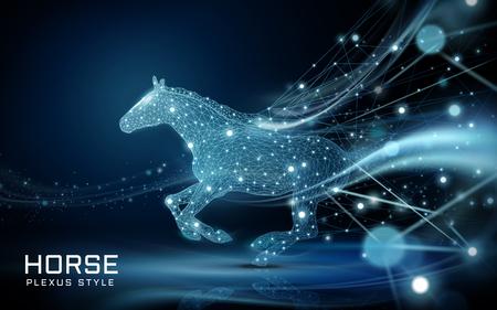 Ilustración de Running horse icon. - Imagen libre de derechos