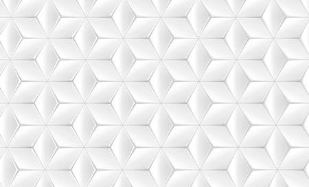Photo pour Elegant white geometric background, polygonal matte texture pattern in 3d render, top view - image libre de droit