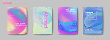 Illustration for Fluid liquid style brochure, pastel color mix background flyer design - Royalty Free Image