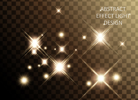 Ilustración de Glittering golden star set, sparkling decorative elements isolated on transparent background, 3d illustration - Imagen libre de derechos