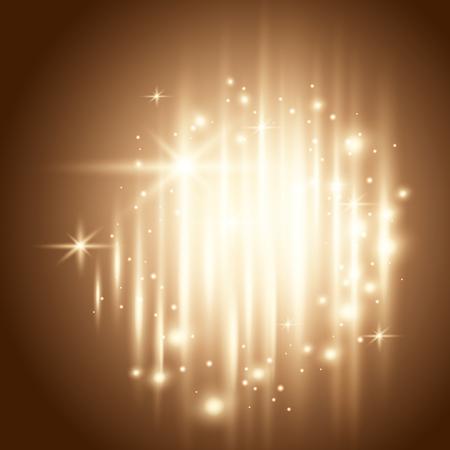 Ilustración de Glowing and sparkling background, star dust decorative design elements - Imagen libre de derechos