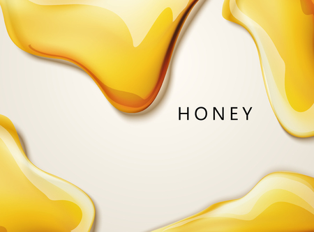 Ilustración de Honey liquid texture, golden honey in 3d illustration for design uses - Imagen libre de derechos