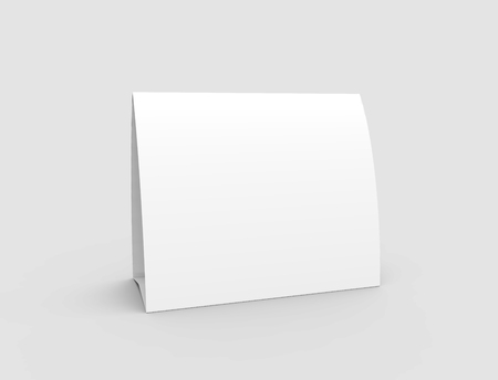 Photo pour Blank paper tent template, white tent card with empty space in 3d render - image libre de droit