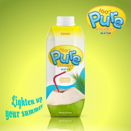 Illustration pour Coconut water drink package design - image libre de droit