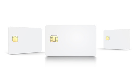 Illustration pour Blank chip cards set - image libre de droit
