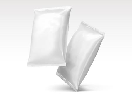 Illustration pour Blank chip packages design in 3d illustration - image libre de droit