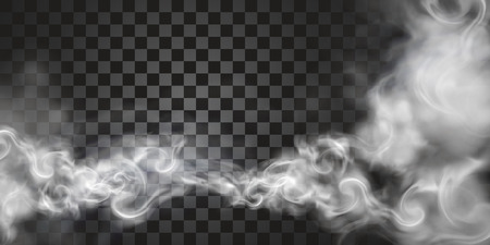 Illustration for Smoke floating in the air in 3d illustration on transparent background - Royalty Free Image