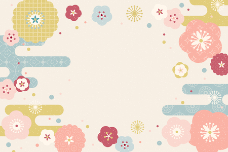Illustration for Lovely flat design flowers background with copy space - Royalty Free Image