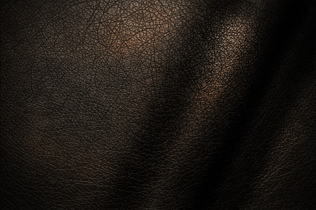 Photo for Natural texture of dark leather for the design. - Royalty Free Image