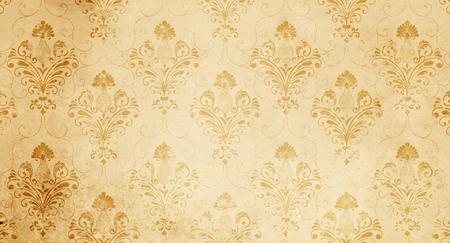 Foto de Vintage floral paper texture for the design. Vintage wallpaper design. - Imagen libre de derechos