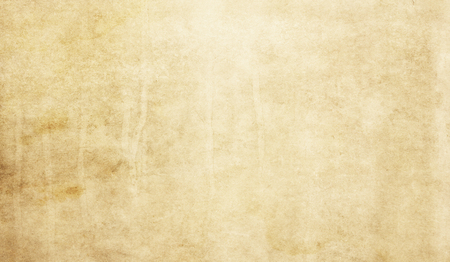 Foto de Yellowed grunge paper or parchment texture for background. - Imagen libre de derechos