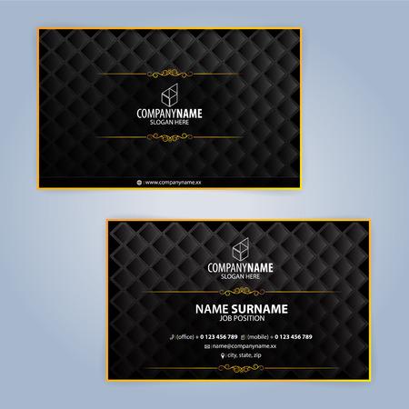 Illustration pour Business card design templates, Luxury graphic design - image libre de droit